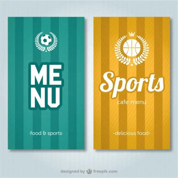 Sports Bar Menu Free Vector