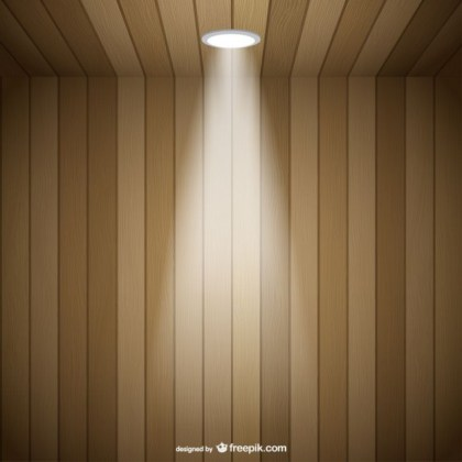 Spotlight Tridimentional Space Free Vector