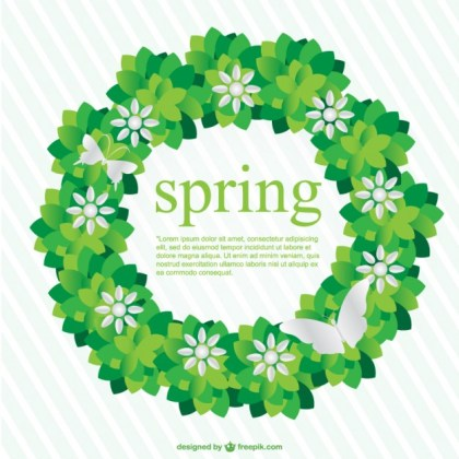 Spring Background Image Free Vector