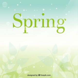 Spring Background in Blurry Style Free Vector