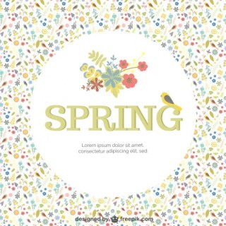 Spring Background Template Free Vector
