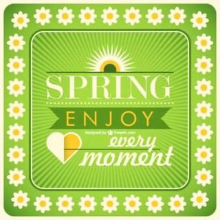 Spring Card Free Vector