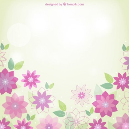 Spring Flowers Background Free Vector