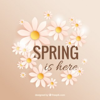 Spring is Here with Daisies Free Vector