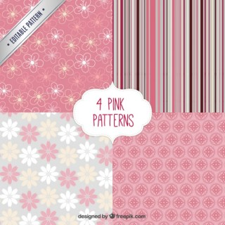 Spring Patterns Collection Free Vector