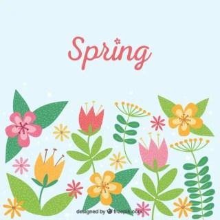 Spring Postcard Free Vector