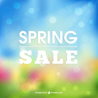 Spring Sale Brighting Background Free Vector