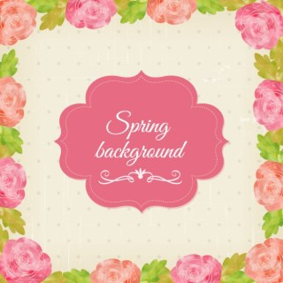 Spring Stationery Background Free Vector