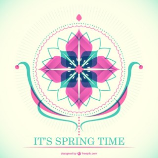 Spring Time Decorative Card Free Vector