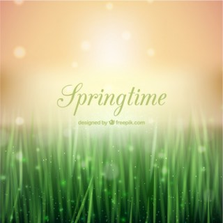 Springtime Background in Bokeh Style Free Vector