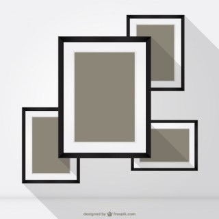 Square Frames Free Vector