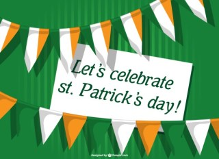 St Patrick's Card Invitation Free Vector
