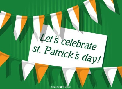 St Patrick's Card Invitation Free Vector