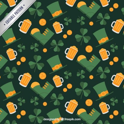 St Patricks Day Pattern Free Vector