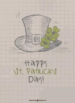 St Patrick's Doodle Design Free Vector