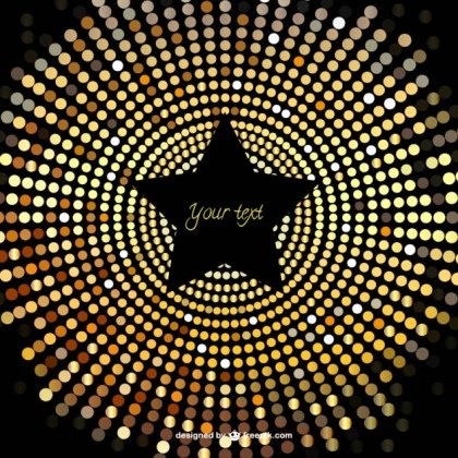 Star Gold Background Free Vector