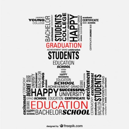 Student Graduation Concept Illustration Free Vector