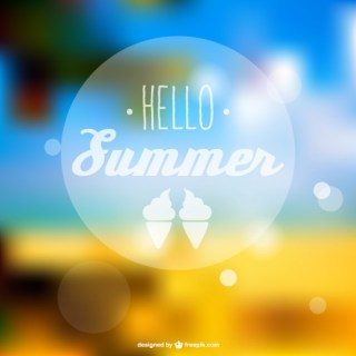 Summer Abstract Free Vector