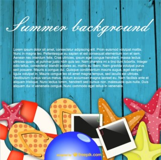 Summer Background Fun Concept Free Vector