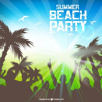 Summer Beach Party Free Template Free Vector