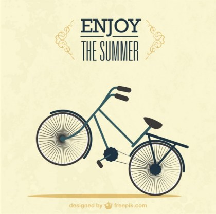 Summer Bike Ride Free Vector