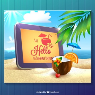 Summer Hello Template Free Graphics Free Vector