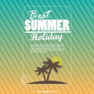 Summer Holiday Background Free Vector