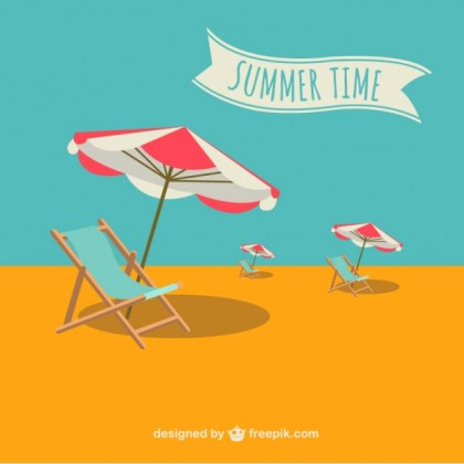 Summer Holiday Illustration Free Vector