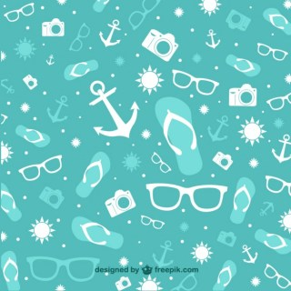 Summer Holiday Pattern Free Vector