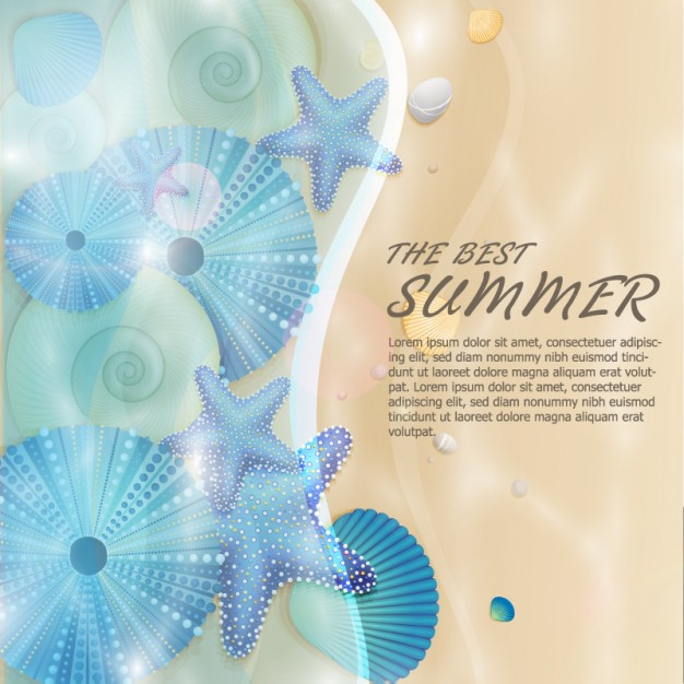 Summer Nature Background Free Vector