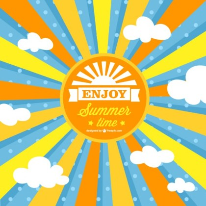 Summer Sun Free Vector