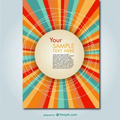 Summer Sunburst Colorful Design Free Vector