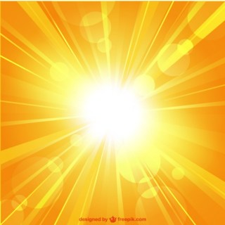 Summer Sunburst Template Free Vector