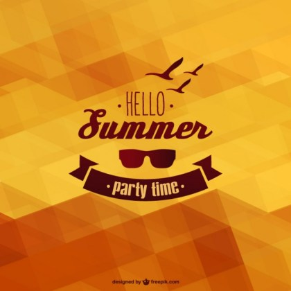 Summer Template Background Free Vector