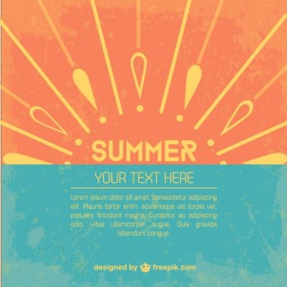 Summer Template Free Vector