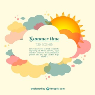 Summer Time Free Vector