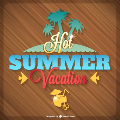 Summer Tropical Island Graphics Free Vector