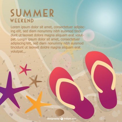 Summer Weekend At The Beach Free Vector
