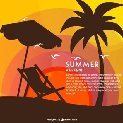 Summer Weekend Free Card Free Vector