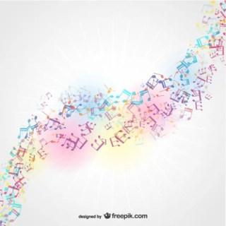 Sun Light Musical Background Free Vector