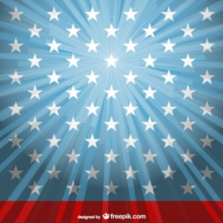 Sunlight Usa Flag Template Free Vector