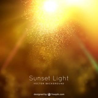 Sunset Light Background Free Vector