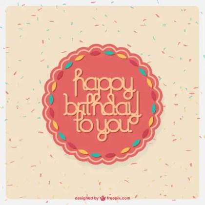 Sweet Birthday Card Desing Free Vector