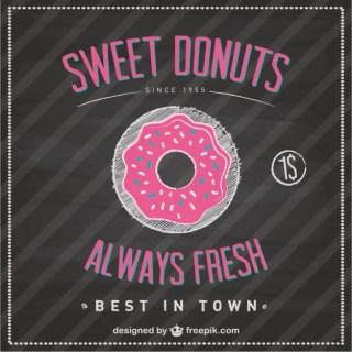 Sweet Donuts Blackboard Template Free Vector