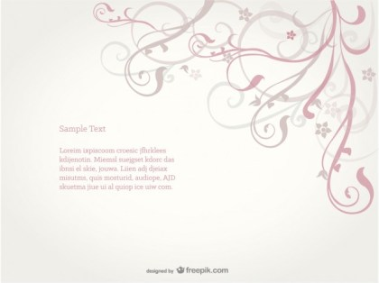 Swirl Floral Background Free Vector