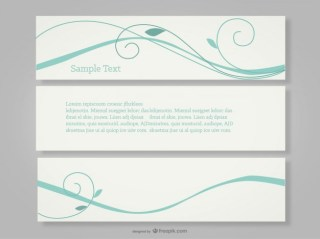 Swirly Free Banners Simple Design Free Vector