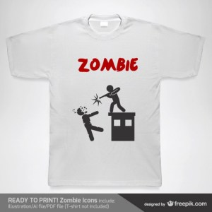 T-Shirt Zombie Template Free Vector