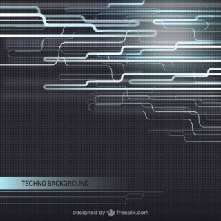 Techno Background Free Vector