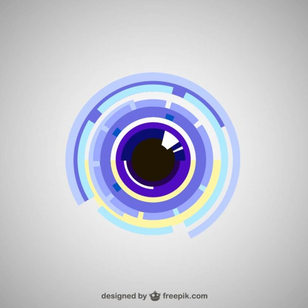 Technological Eye Free Vector