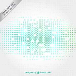 Technology Background with Small Circles Free Vector